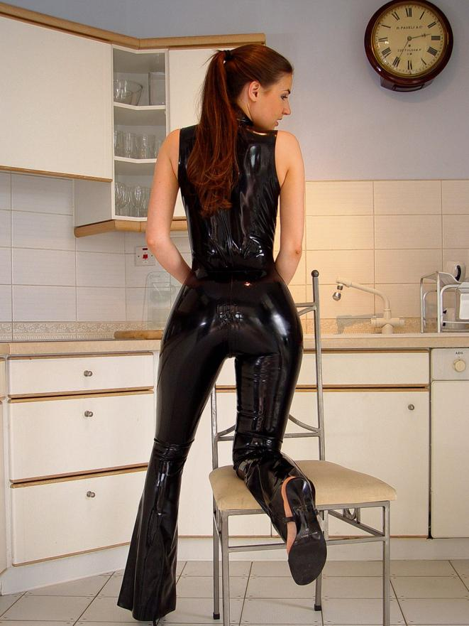 Black Girl In Latex