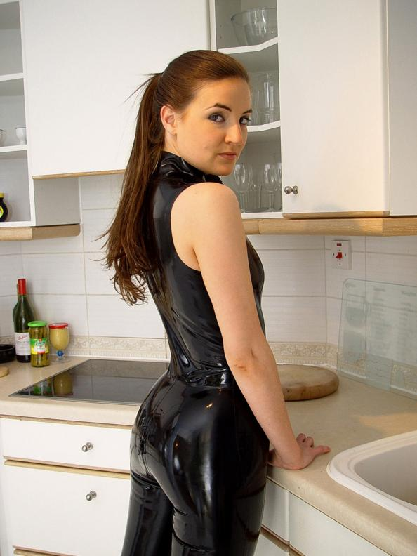 Girl Latex Leather