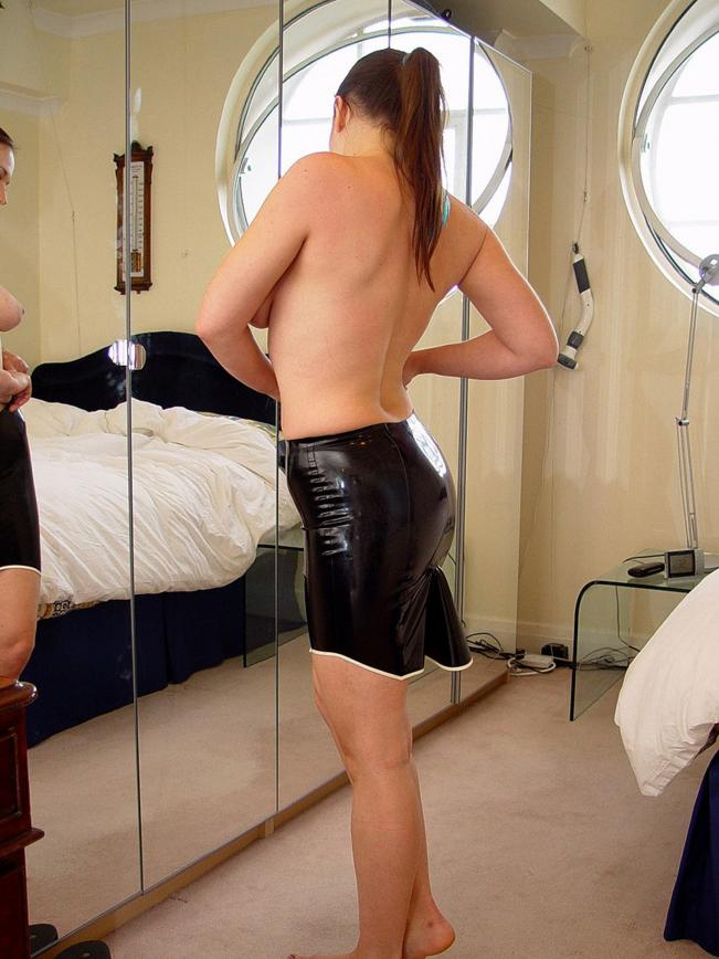 Women In Rubber Pants