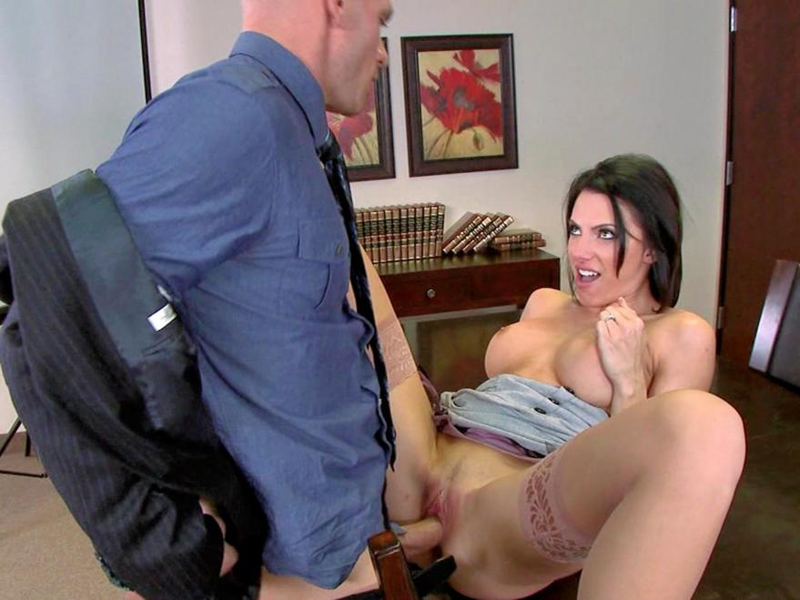 Girl Nylons Office