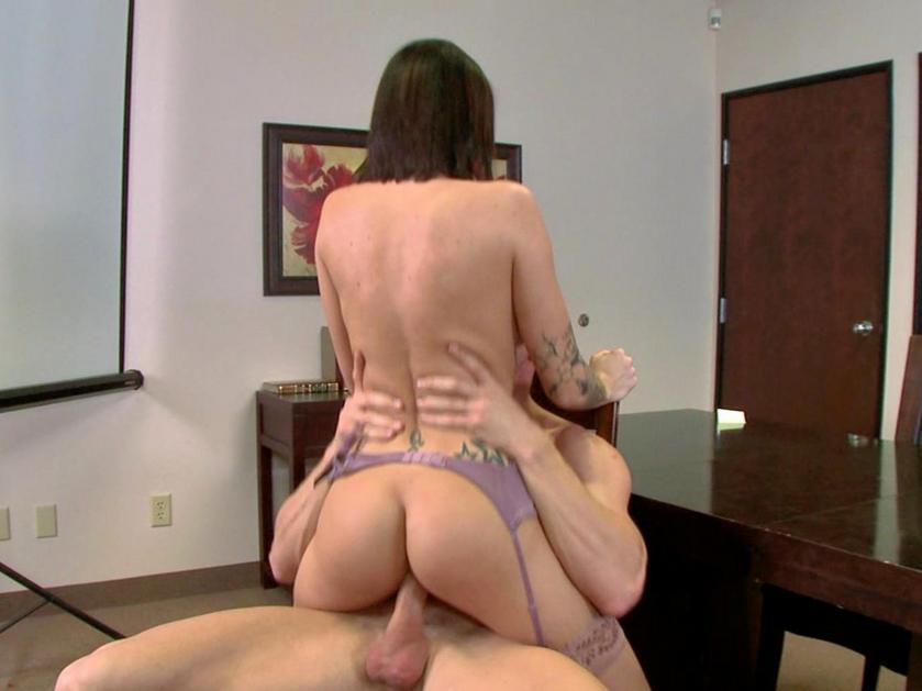 Girl Hose In Office Pantie