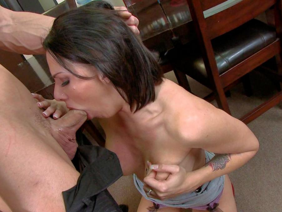 Wife giving blowjob at glory hole